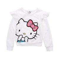 Hello Kitty 女小童花边卫衣