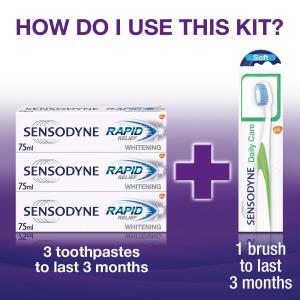 牙膏三件套+牙刷仅£12.34 敏感牙必备Sensodyne舒适达 两款牙膏特卖