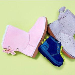 4.7折起UGG 童鞋促销 成人可穿大童款 男童收超火恐龙款