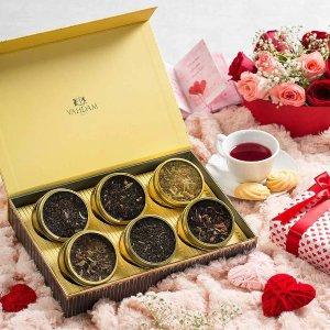 GLOW Assorted Teas Gift Box - 6 Teas in a Tea Sampler Gift Box