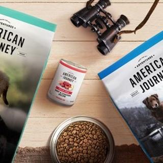 Buy 1 Get 1 FreeChewy American Journey Dog Food on Sale