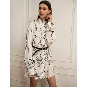 Pixie Market时尚博主同款印花衬衫裙