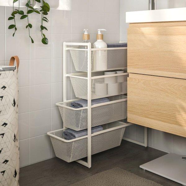 4层浴室收纳架 25x51x70 cm