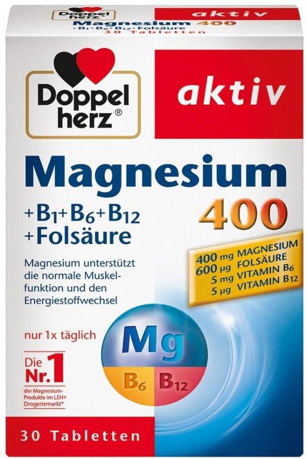 镁400mg+维生素B+叶酸营养片