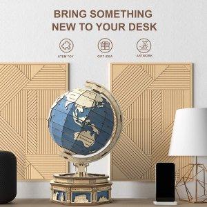 $20起ROBOTIME 3D木制拼图 收地球仪、小木屋等
