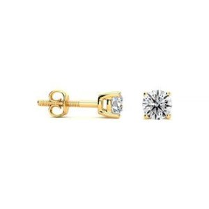 SuperJeweler1/3 Carat D-E-F Color Diamond Stud Earrings, Colorless Diamonds