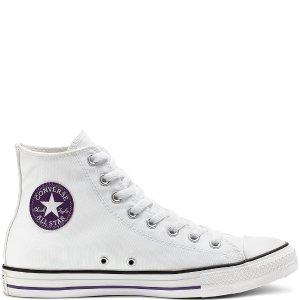 Converse纯色高帮帆布鞋