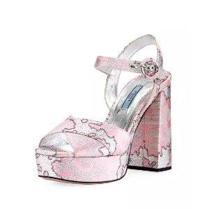 ed51282e1 Prada Prada Jeweled Satin Sandal · Women Shoes. PradaPrada Brocade Platform  Block-Heel Sandal