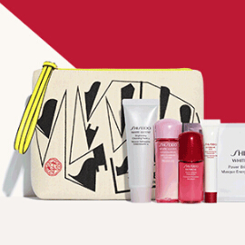 满$75送10件礼 3套可选Shiseido 最高送价值$200超值大礼包