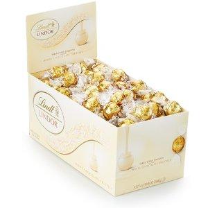 LindtWhite Chocolate LINDOR Truffles Box (120-pc, 50.8 oz)