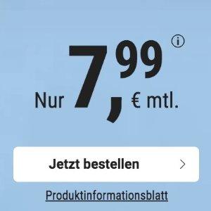 代号入网就送10欧免接通费 包月电话/短信+3GB上网+欧盟漫游 月租€7.99