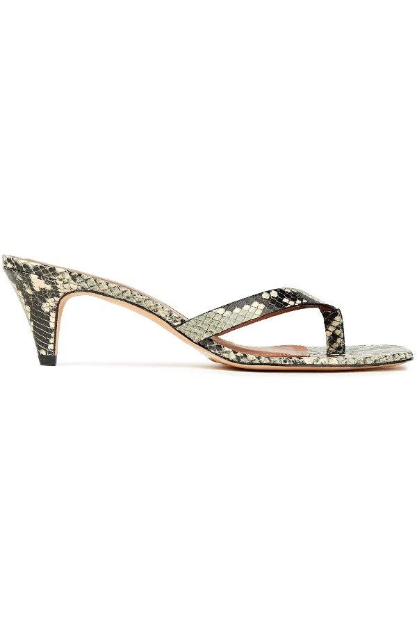 蛇纹穆勒鞋