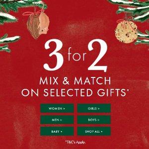 买2赠1=变相6.6折!Joules 圣诞选礼/购物指南 最全冬季套装等你收入