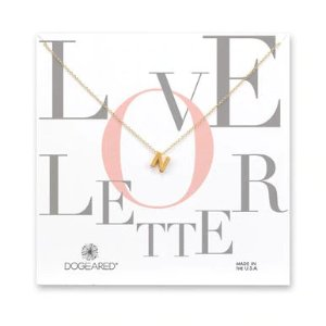 Dogearedlove letter n necklace, gold dipped