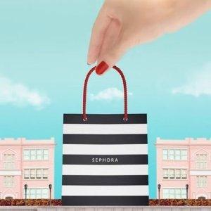 9折 + 送化妆包Sephora MINI专区热卖 Fenty、彼得罗夫通通装进口袋