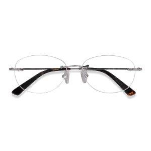 EyeBuyDirect刘亦菲相似款透明无框镜 黑色镜腿