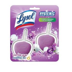 Lysol, Automatic Toilet Bowl Cleaner, Cotton Lilac, 2ct