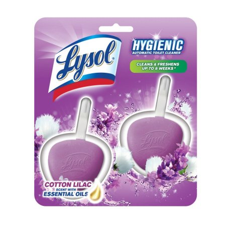 Lysol, Automatic Toilet Bowl Cleaner, Cotton Lilac, 2ct