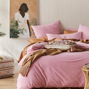 低至3折 枕套、被套全都有Adairs 神仙颜值的床品大促 法兰绒床单多色可选$23起