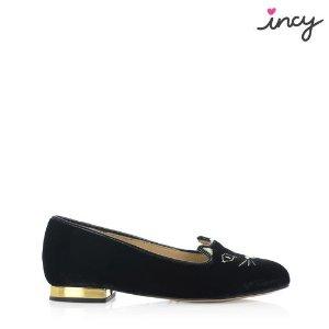 Charlotte OlympiaWomen's Designer Flat Shoes |- INCY KITTY FLATS