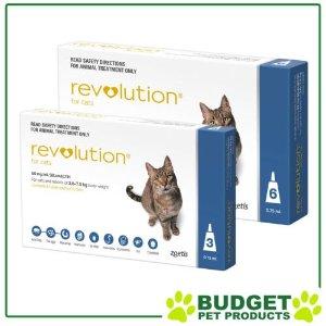 RevolutionFor Cats 2.6-7.5kg Blue 9 Doses