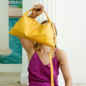 Simon Miller可调节肩带柠檬黄手提包 18*34*8 cm