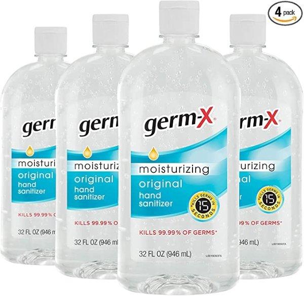 Germ-X 免洗消毒洗手液 32oz 4瓶装