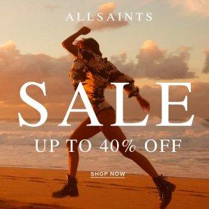 6折起 £19收条纹T恤 £178收风衣上新:AllSaints 年中大促正式起航 潮酷美衣码全速收