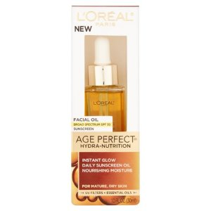 L'Oreal Paris Age Perfect Hydra-Nutrition SPF 30 Facial Oil - Walmart.com