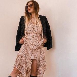 低至3折+额外8折 $58收连衣裙折扣升级:Allsaints 春夏裙装热卖 $68收斑马纹收身连衣裙