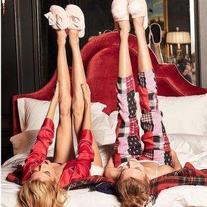 5.1折起 + 满额减$15 + 送$20礼卡黒五价:Victoria's Secret 黑五大促 睡衣上新热卖 送可爱拖鞋