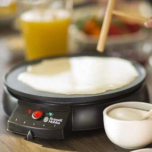 仅€26.8 在家也可以摆摊儿啦Russell Hobbs 煎饼果子制作神器 还能做可丽饼 附赠摊饼小工具