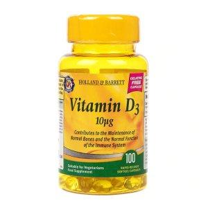 Holland & Barrett素食维生素D3 素食主义者可用