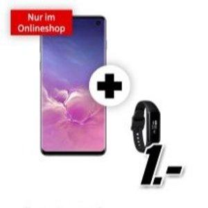 包月电话+短信+6GB LTE黑五价:一次性购机费1欧送Samsung Galaxy S10 +Fit E 手环