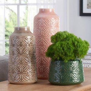 Better Homes & Gardens 3-Piece Starburst Geometric Vase Set