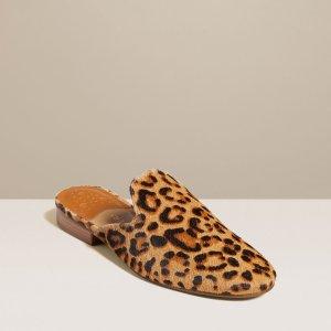 Jack Rogers豹纹穆勒鞋