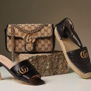 低至4折+额外减$100独家:Gucci 时尚专区 小白鞋$400+,GGMarmont、酒神等