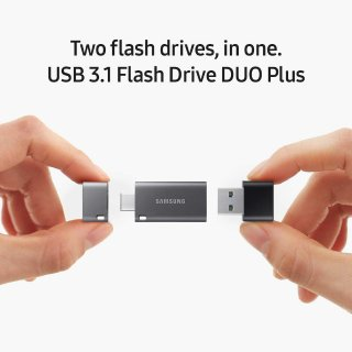 $49.99 (原价$79.99)Samsung Duo Plus 256GB 300MB/s USB 3.1 闪存盘