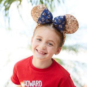 DisneyMinnie Mouse Rose Gold Disney Cruise Line Ear Headband   shopDisney