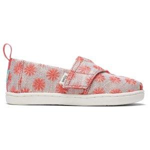 Toms儿童小花帆布鞋