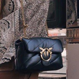 封面款€224 直降€110!平价小香包今夏流行枕头包!Pinko 黑金款 软fufu小羊皮 乐子同款!