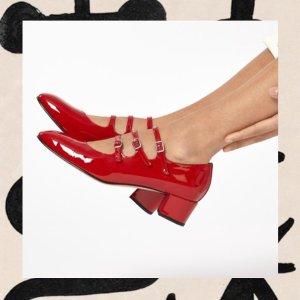 首单9折 £278收封面白色款Carel 人气玛丽珍鞋限时闪促 温柔小淑女风超优雅