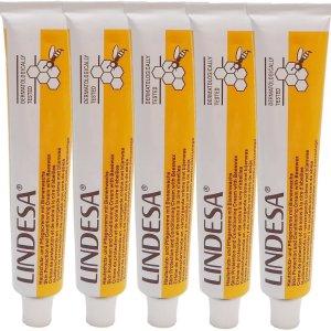 Lindesa 实验室专用 经典少油性蜂蜡护手霜 5支50ml装