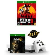 $459.99Xbox One X 1TB Robot White Special Edition Fallout 76 EPB with Red Dead Redemption 2