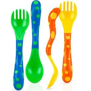 $2Nuby 4-Pack Spoons and Forks (2 Each)