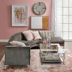 Z GALLERIELight Pink Mongolian Fur Pillow | Z Gallerie