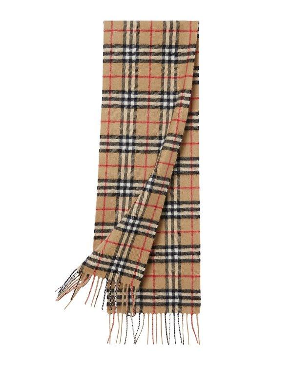 儿童复古羊绒围巾