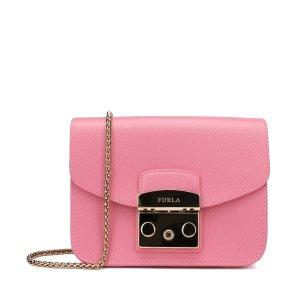 Furla约加币$165Metropolis 斜挎包 深粉色