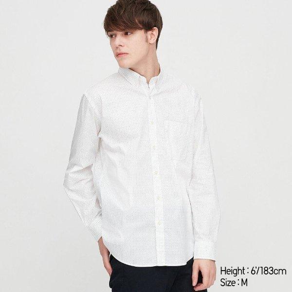 小细点白衬衣