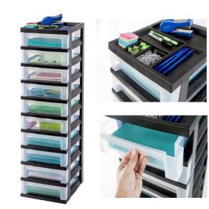 IRIS 10层简易可移动抽屉收纳盒